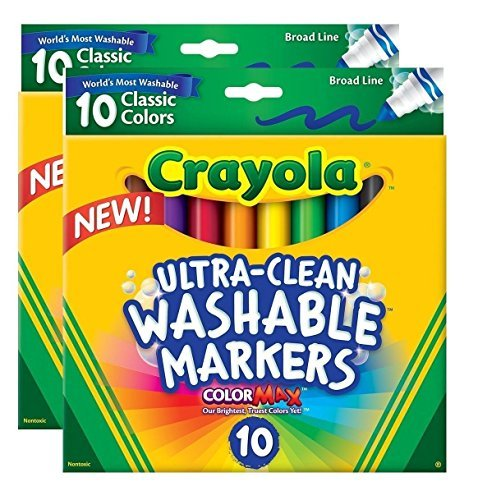 Crayola Ultraclean Broadline Classic Washable Markers (2-Pack)
