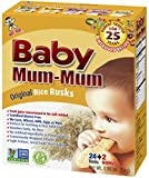 Baby Mum-Mum Rice Rusks, 24 + 2 Pieces, Original Flavor (Pack of 6)