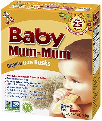 Baby Mum-Mum Rice Rusks, 24 + 2 Pieces, Original Flavor (Pack of 6) (Mum Baby Food compare prices)
