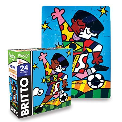 P'Kolino Britto Jigsaw Puzzle - Soccer (24-Piece)