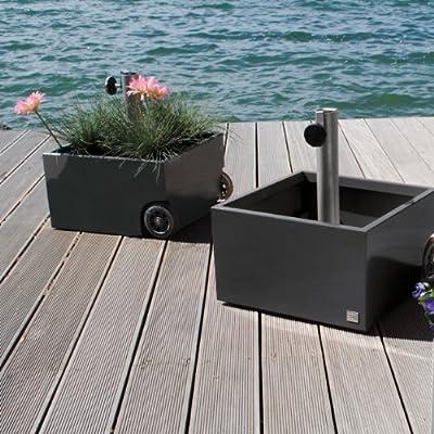 XXD Schirmständer grau mit Rollen Flowerpower von XXD auf Gartenmöbel von Du und Dein Garten