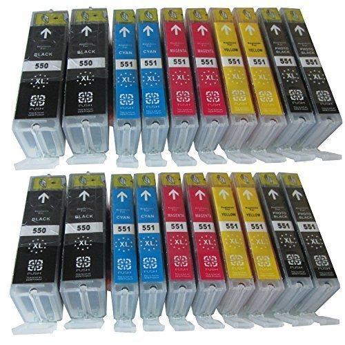 20-XL-Sparset-komp-Tintenpatronen-mit-Chip-fr-Canon-Pixma-MG-7550-7150-6650-6450-6350-6300-5650-5550-5450s-5450-5400-CANON-Pixma-IP-7250-8750-Canon-Pixma-MX-725-925-Canon-ix-6850-sie-bekommen-4-x-Cano