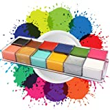 12 Colors Face Body Paint Oil Painting Art Halloween Party Fancy Beauty Makeup Brushes Eye Shadow Kit (Color: face paint)