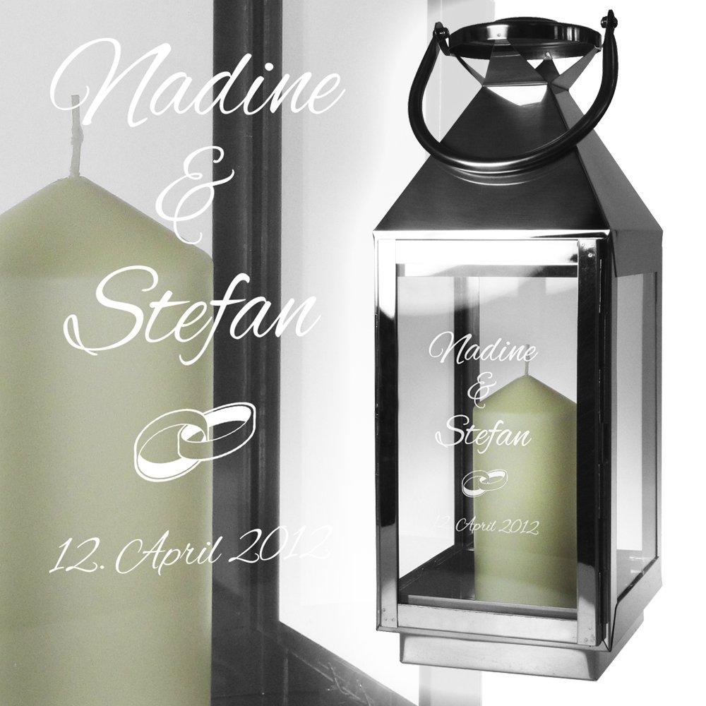 Edelstahl Laterne Elegant Silber Metall Glas Windlicht Zur Hochzeit