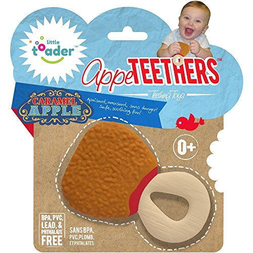 Little Toader Teething Toys, Caramel Apple Appe-Teethers - 1