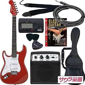 SELDER セルダー エレキギター ストラトキャスタータイプ サクラ楽器オリジナル ST-23LH/MRD 初心者入門リミテッドセット レフティ 左利き用