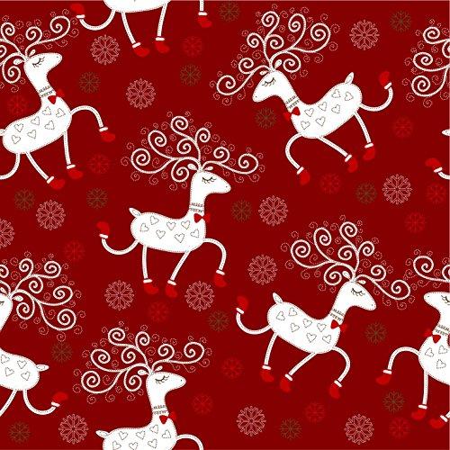 Retro Christmas Kraft Wrapping Paper Sets (Reindeer-Mistletoe-SodaShoppe on Brown Kraft) 4