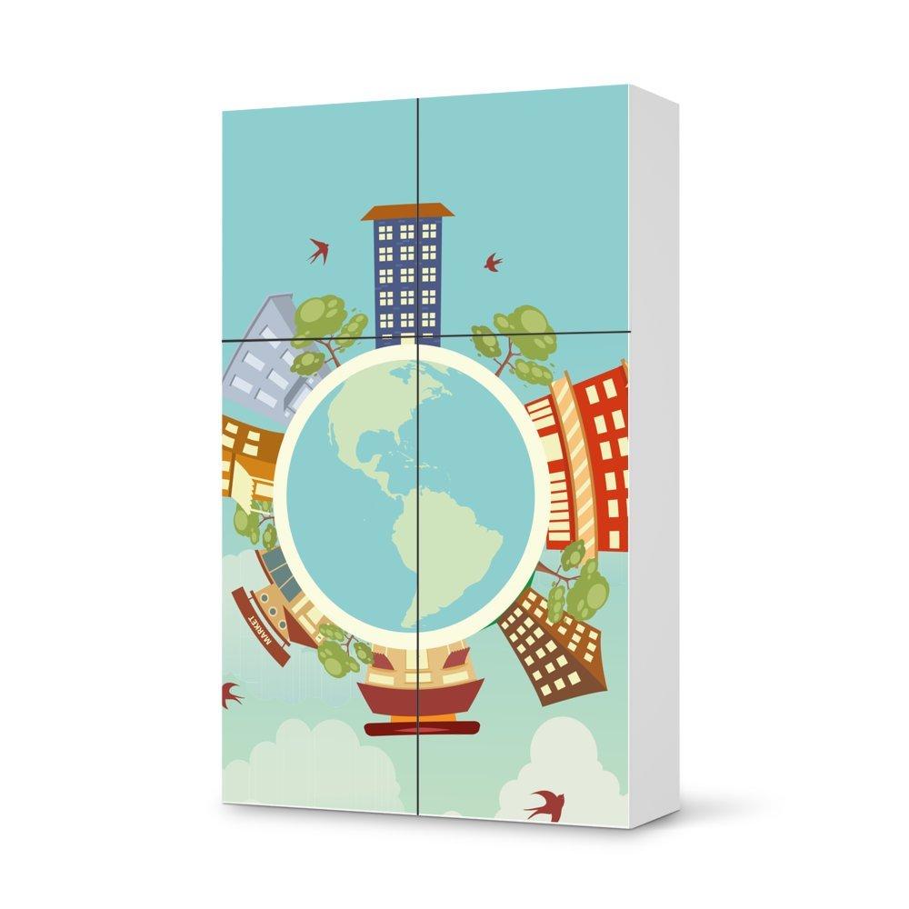 Folie IKEA Besta Schrank Hochkant 4 Türen (2+2) / Design Aufkleber Planetastic / Dekorationselement online bestellen