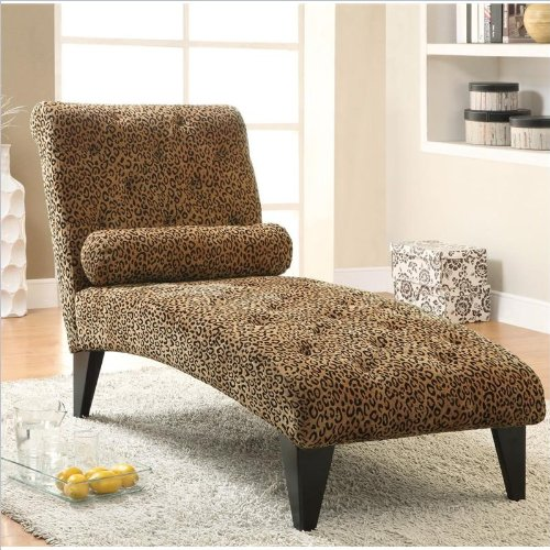 Coaster Home Furnishings Transitional Chaise, Black front-450127