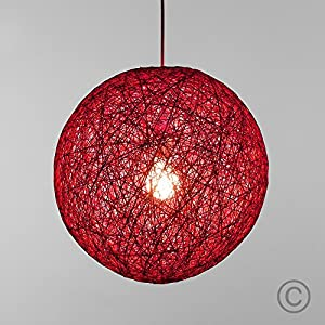 Modern Small Pink Lattice Wicker Rattan Globe Ball Style Ceiling Pendant Light Lampshade from MiniSun