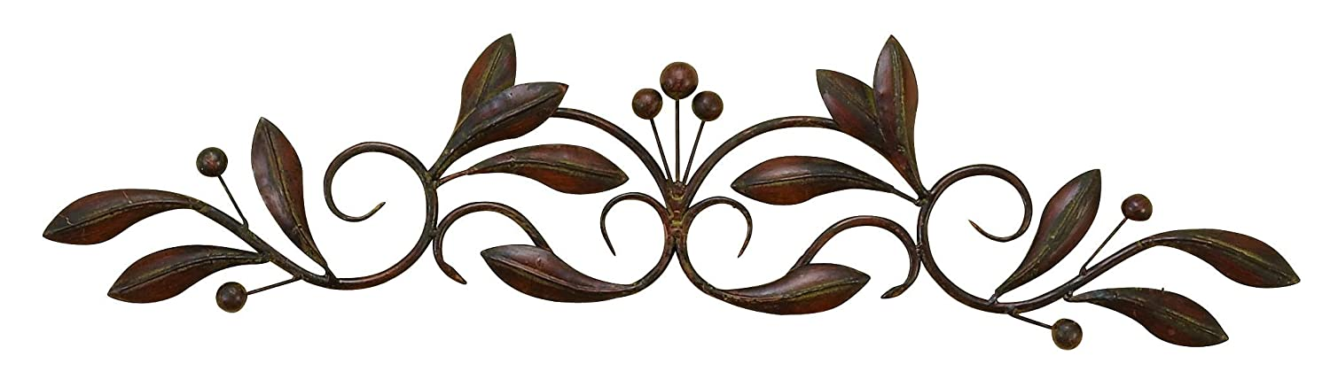 Scroll Design Wall Decor : Circular metal wall art beautiful swirls curves decoration