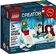 Lego Creator Christmas Ice Skating Rink Set 40107 - RARE VIP Bonus Promo