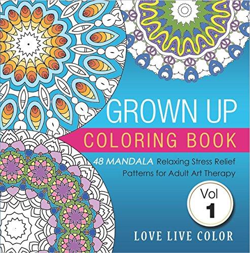 Adult Coloring Book Set Of 3 Mandalas Flower Designs