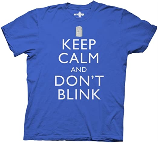 Doctor Who Keep Calm And Don't Blink Mens T-shirt