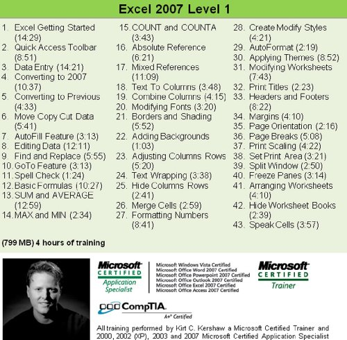 Excel for Windows training