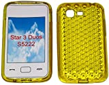 SDK- Smart Diamond Pattern Super Gel TPU Case Cover For Your Samsung Star 3 Duos GT S5222 S5220 In Sunny Yellow...Other Amazing Colours Available!