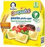 Gerber Graduates Pasta Pick-Ups Ravioli, Beef and Tomato, 6 oz Trays, 8 Count