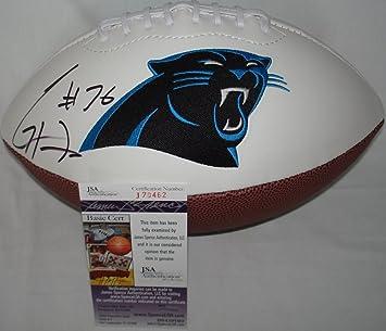 Greg Hardy Autographed Carolina Panthers Logo Football -