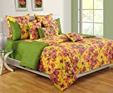 Swayam Colors of Life Printed Cotton Bedsheet with 2 Pillow Covers - King Size, Multicolor (DBS XL-2410)