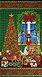TT-3426 クリスマスツリーとクリスマスプレゼント タペストリーパネル 59.5*110 未完成品 コットンプリント生地
