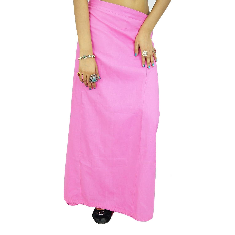 Bollywood indische Frauen tragen Baumwolle solide Unterrock Petticoat-Futter für Sari günstig online kaufen