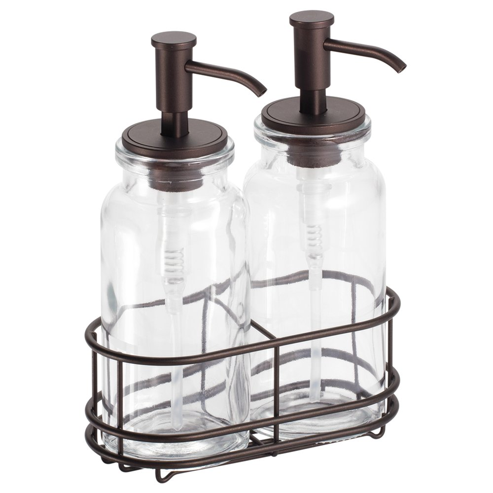 Interdesign Westport Double Soap And Lotion Dispenser Pump