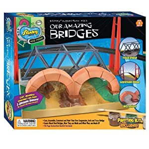 POOF-Slinky 7400 Slinky Science Our Amazing Bridges Model Building Kit by Slinky Science TOY (English Manual)