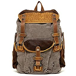 TSD Tapa Collection_ Vintage Distressed Canvas Leather Outdoor Travel Large Backpack