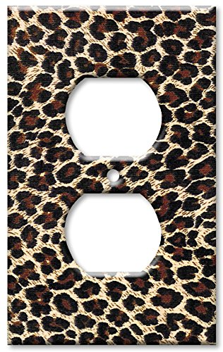 Art Plates - Leopard Print Switch Plate - Outlet Cover