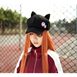 Cosplay Eva Evangelion Asuka Langley Cat Ear Plush Hat Peaked Cap Casquette