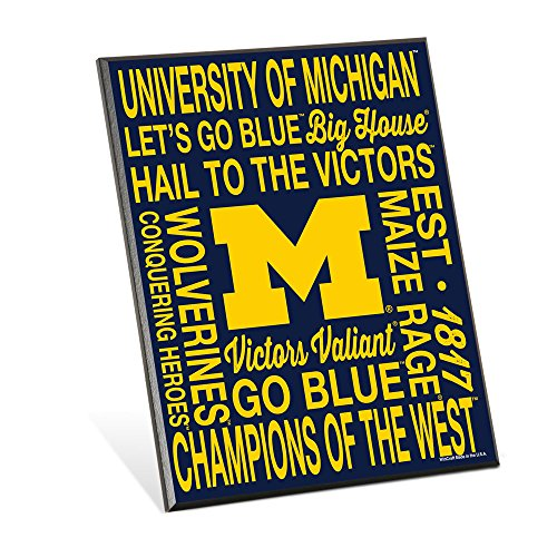 NCAA Michigan Wolverines Phrase Wood Easel Sign, 8 x 10