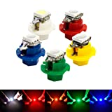 10pcs T5 5050 1SMD LED B8.4D B8.5D 509T Indicator Gauge Dashboard Dash Side Lights Bulbs (Color: White)