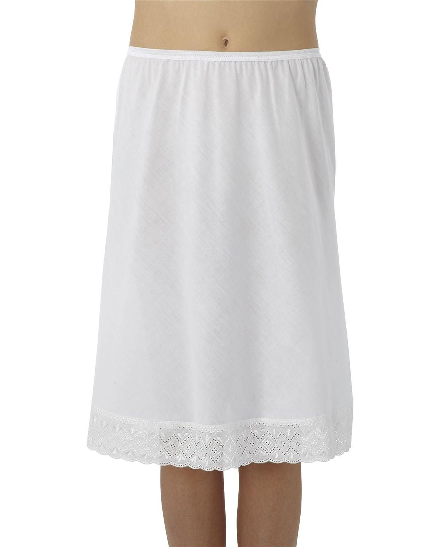 Womens/Damen weiße Unterwäsche Unterrock Hälfte rutscht mit Lace Trim Polycotton, verschiedene Größen online bestellen