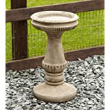 Garden Bird Bath Feeder - Fluted Design Stone Birdbath