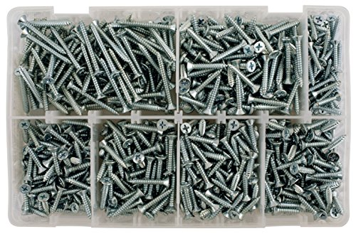 Connect Workshop Consumables 35003 Assorted Countersunk Self Tapping Screws, Set of 615