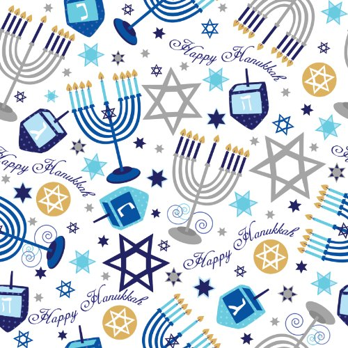 hanukkah wrapping paper Celebrate the festival of lights and shop at dollartreecom for $1 hanukkah  party supplies and decorations  small royal blue kraft paper gift bags, 3-ct.