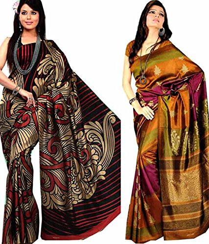 Meher Combo of 2 Art Silk Sarees (CO004
