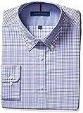 Tommy Hilfiger Mens Non Iron Slim Fit Check Buttondown Collar Dress Shirt