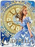 Disney Cinderella 2015 Clock Strikes Super Plush Throw 46x60
