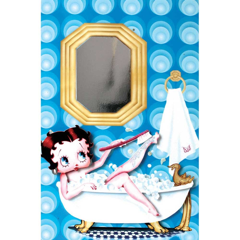 Betty Boop Greeting Card Bubble Bath Style