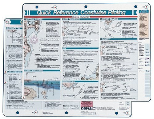 Davis Instruments Coastwise Piloting  Quick Reference Card