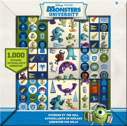 1,000 Monsters University Stickers by the Roll - Licensed