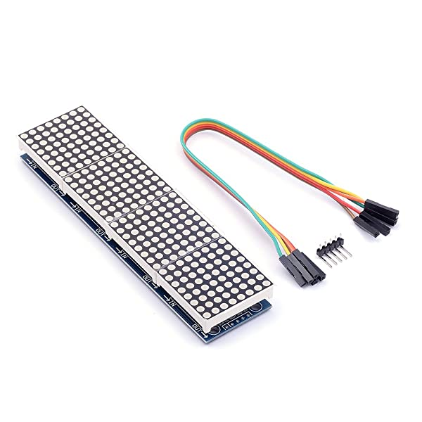 Cylewet MAX7219 Dot Matrix Module 4 in 1 Display for Arduino Microcontroller with 5Pin Line CYT1045