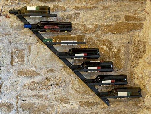 Flaschenhalter-Weinregal-Diagon-100cm-aus-Metall-Flaschenstnder-Wandregal-Bar-Rechts-Rechte-Ausfhrung