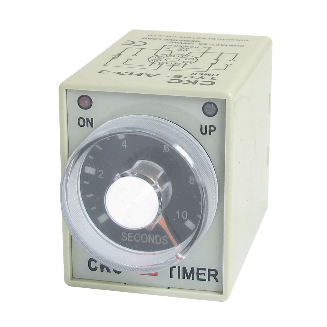 AH3-3 On/Up LED Indicator Power On Timing Relay DPDT 0-10s 10 Sec 380V AC