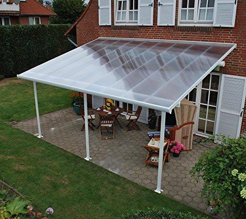 hochwertige aluminium terrassen berdachung terrassendach 300x1340 cm txb wei. Black Bedroom Furniture Sets. Home Design Ideas