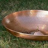 Monarchs Pure Copper 18-Inch Hammer Anchoring Basin 3-Inch High