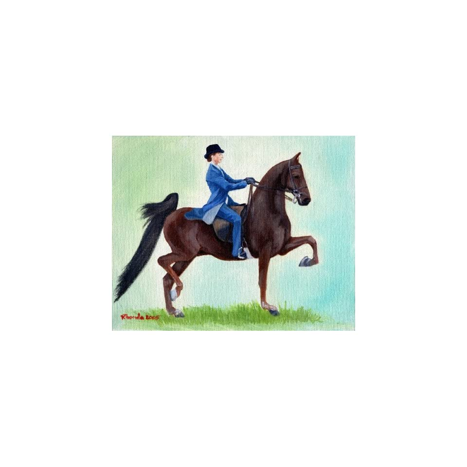 American Saddlebred Horse Exhuberation Portrait Matted Art Print   5 in x 7 in Design   8 in x 10 in Matted