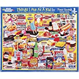 """White Mountain Puzzles Jigsaw Puzzle 1000 Pieces, 24"""" by 30"""", Things I Ate As A Kid"""