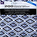 Mainstays 200 Thread Count Sheet Collection Blue Diamond Ikat Size: King